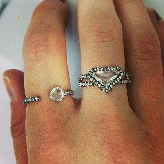 White gold game. #rings #rosecutdiamonds #jemmawynne