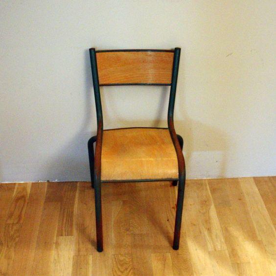 rénover une chaise d'écolier