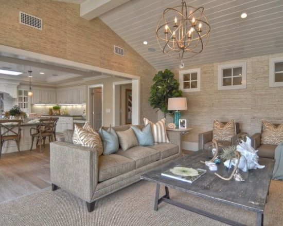 Vaulted ceilings vaulted ceiling lighting and living room for Vaulted living room decorating ideas