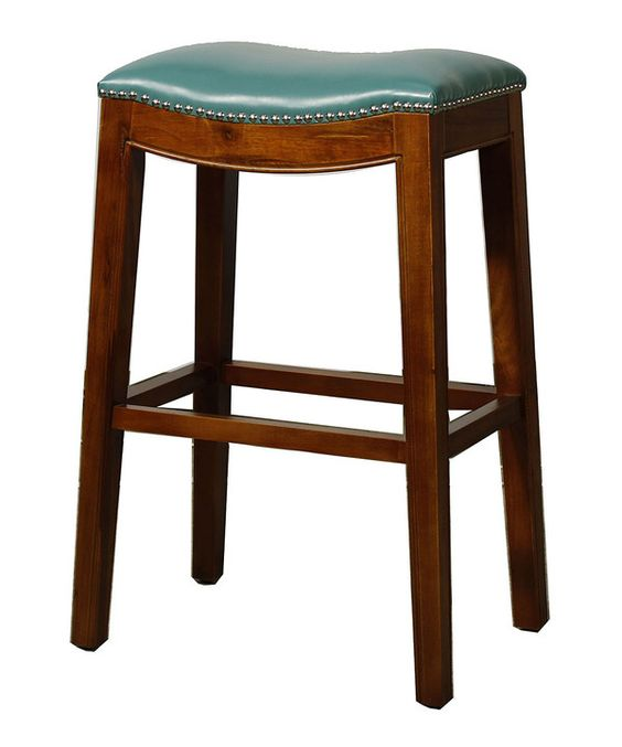 Turquoise Bonded Leather Bar Stool With Images Bar Stools