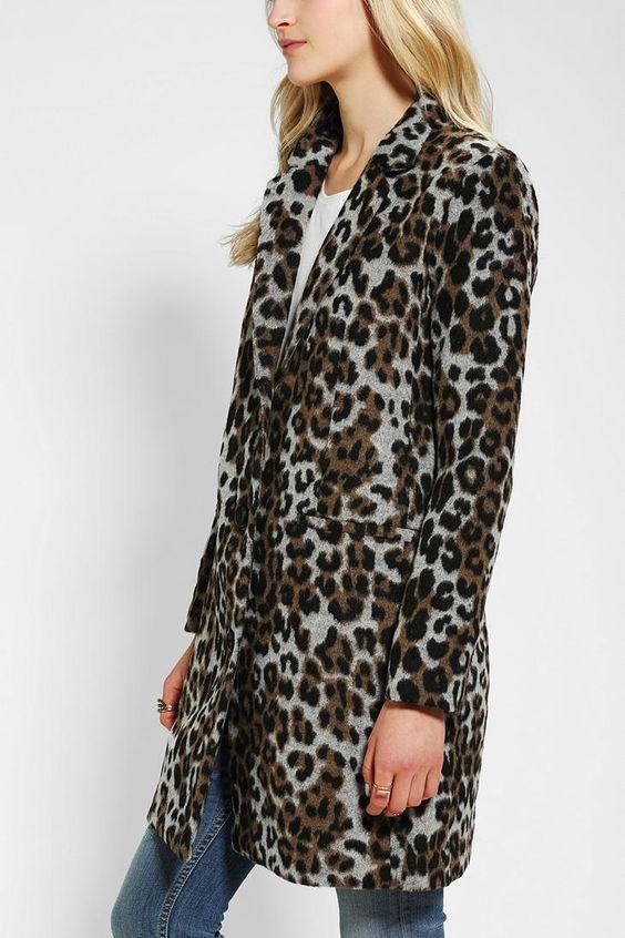 BB Dakota Hazel Leopard-Print Coat - Urban Outfitters