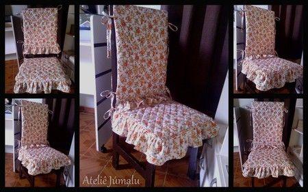 Capa para Cadeira - Assento e Encosto - Floral