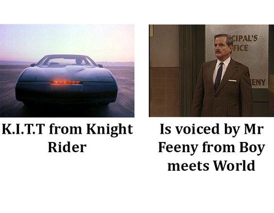 K.I.T.T and Mr. Feeny