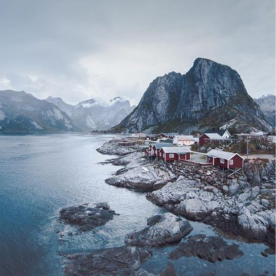 """Hamnøy, Lofoten. I'm staying in one of those little red cabins "" Photo taken by @zckrf on Instagram, pinned via the InstaPin iOS App! http://www.instapinapp.com (09/23/2015)"
