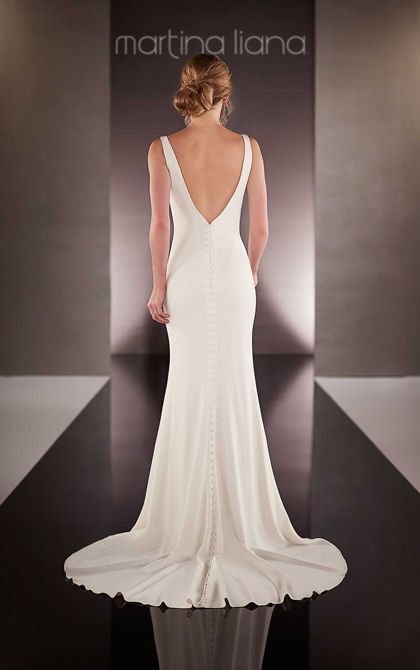 Simple Yet Stunning Wedding Dresses : Train sexy bridal gowns wedding neckline simple the back