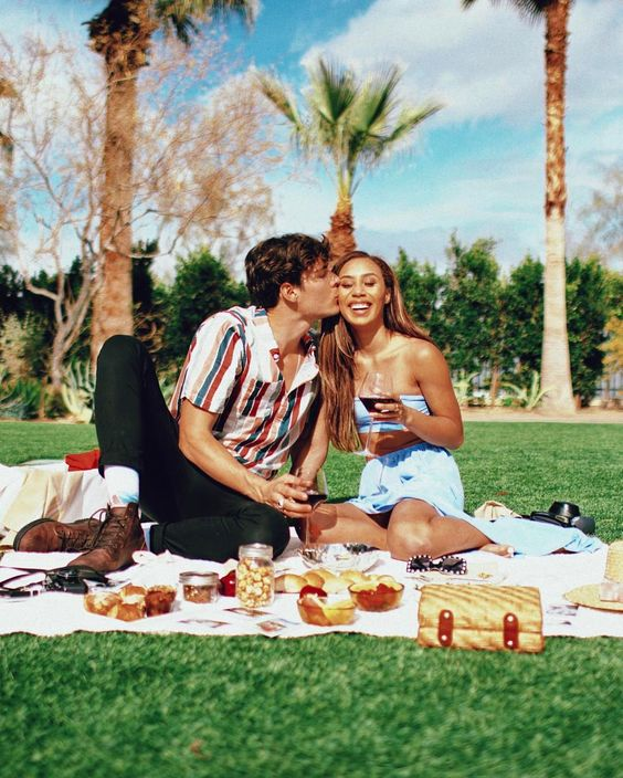 """404.9k Likes, 957 Comments - Eva Gutowski (@mylifeaseva) on Instagram: """"Life is beautiful, and you are beautiful too  Adam and I really wanted to have a picnic in Palm…"""""""