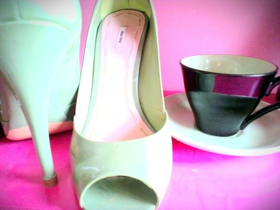Shoes and my cup of tea.