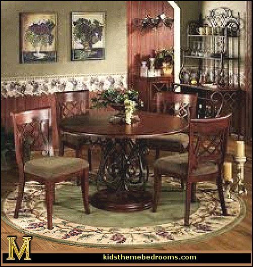 Tuscany kitchen designs tuscan wall mural stickers for Dining room decor accessories