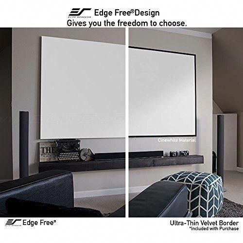 Elite Screens Aeon 110 Inch 16 9 4k Home Theater Fixed Frame Edge Free Borderless Projection Project Projector Screen Home Theater Setup Home Theater Seating