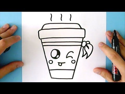 How To Draw A Cute Drink Super Easy And Kawaii Youtube Easy