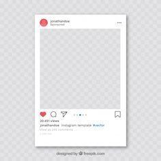 Instagram Post With Transparent Background Download For Free At Freepik Com Freepik Freevector Banner Instagram Mockup Instagram Frame Overlays Instagram