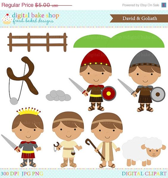 christian clipart bible david goliath clip art - David and Goliath ...