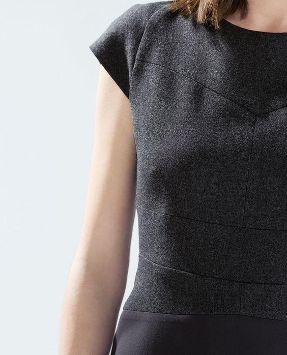 ZARA - NEW THIS WEEK - STRAIGHT DRESS WITH SEAMS