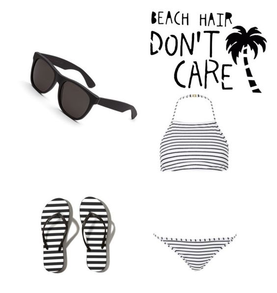 """""""Beach hair don't care"""" by egseemar ❤ liked on Polyvore featuring Topshop, Abercrombie & Fitch and RetroSuperFuture"""