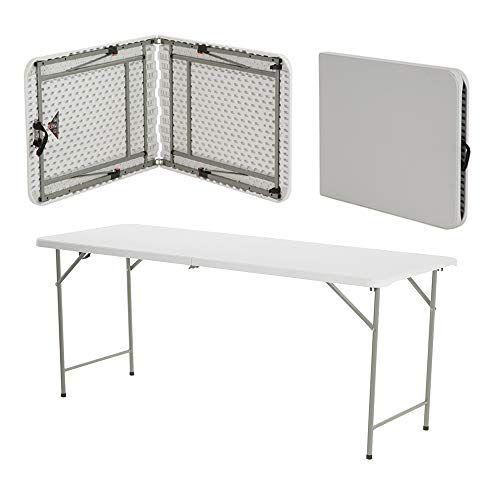 Table en plastique de 1,8 m pliante d\'extérieur, banquet ...