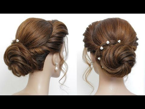 New Low Bun Hairstyle For Girls Party Hair Tutorial Youtube Bun Hairstyles For Long Hair Hair Tutorial Easy Updo Hairstyles