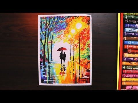 Oil Pastel Drawing For Beginners Rainy Season Scenery Drawing For Beginners With Oil Pastel Beginn In 2020 Oil Pastel Art Oil Pastel Drawings Oil Pastel Paintings