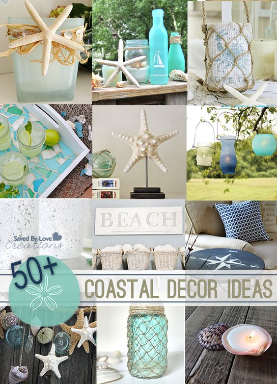 Over 50 DIY Coastal Decor Beach Inspired DIY projects @savedbyloves: