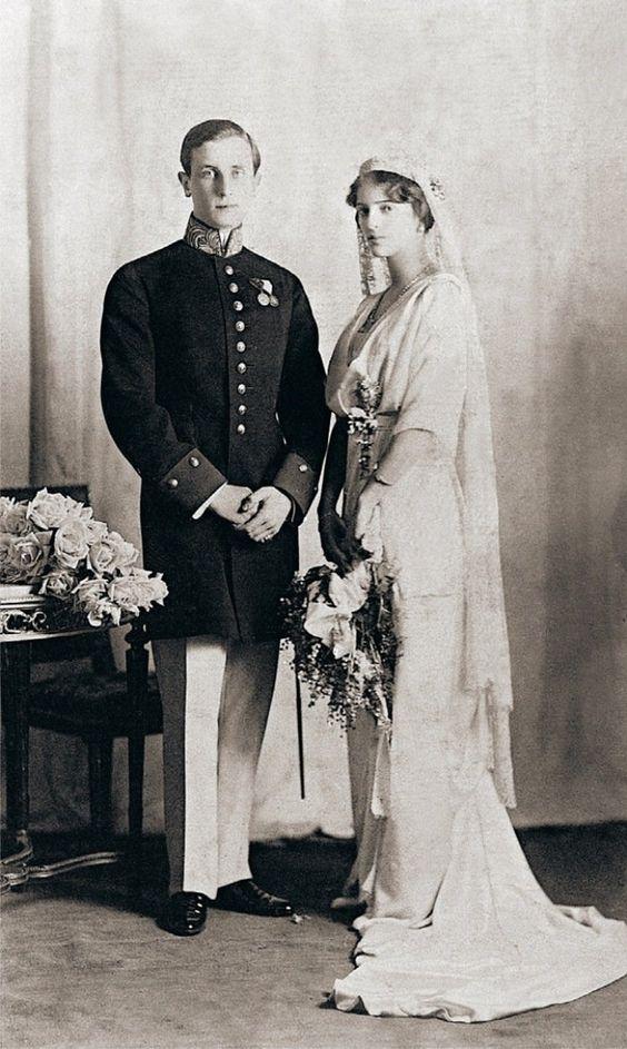 1914: Prince Felix Yusupov and Princess Irina Alexandrovna of Russia.