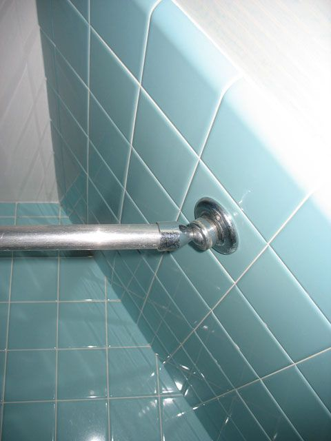 Shower Rod Sloped Ceiling And Showers On Pinterest