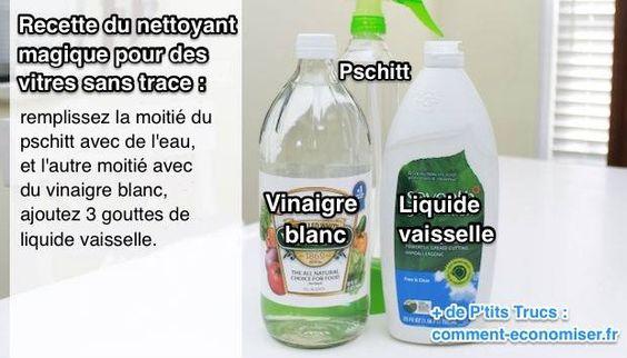 J'utilise ce spray depuis des années et il fonctionne à merveille pour nettoyer les vitres de ma maison. Voici la recette de mon pschitt magique pour laver les vitres.  Découvrez l'astuce ici : http://www.comment-economiser.fr/nettoyant-vitres-sans-traces.html?utm_content=buffere3dac&utm_medium=social&utm_source=pinterest.com&utm_campaign=buffer