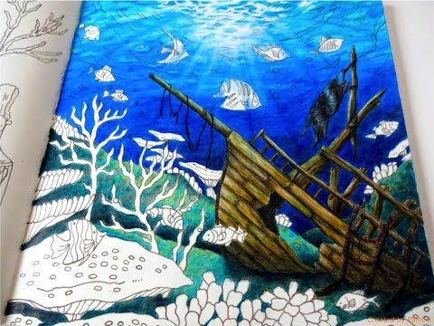 Romantic Country The Second Tale Underwater Part 2 Color Tutorial Prismacolor Youtube Romantic Country Coloring Book Art Coloring Books