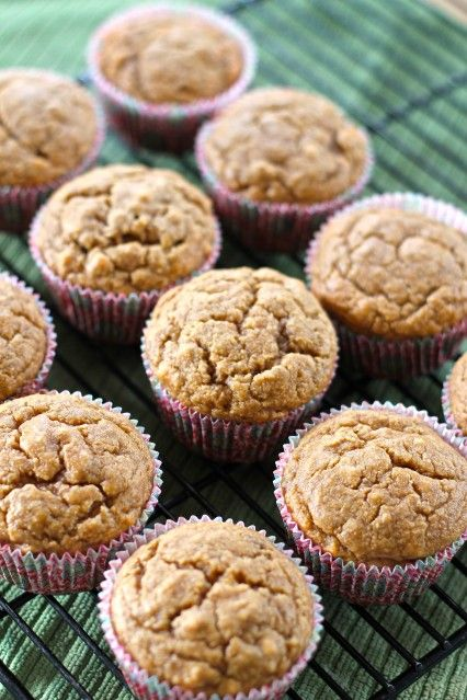 Gluten free peanut butter and banana muffins - my absolute FAVORITE muffins. These stay fresh for days, freeze and thaw well and are so sinless if you're on a whole foods diet.
