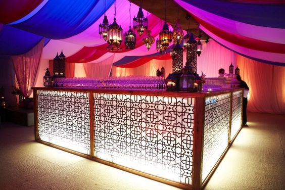 Moroccan light up bar <3