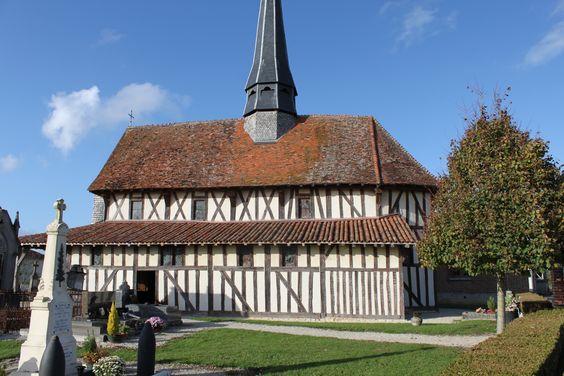 Eglise à pans de bois dans la Marne (51) France
