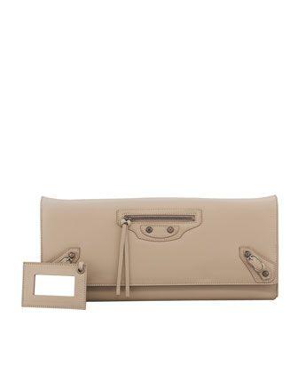 Papier Landscape Clutch Bag, Desert - Balenciaga