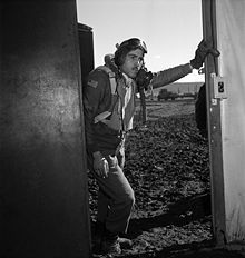Portrait of Tuskegee airman, Edward M. Thomas, by photographer, Toni Frissell, March 1945