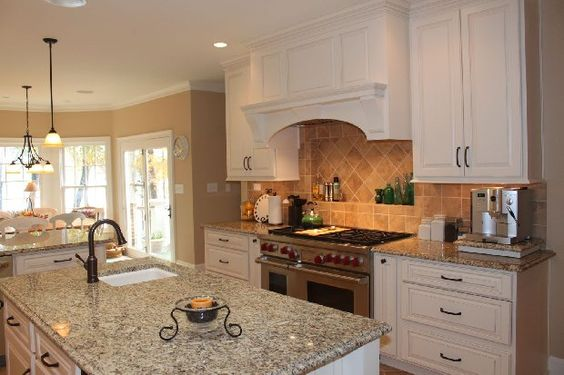 Sink in the kitchen island perfect for washing fruits and vegetables