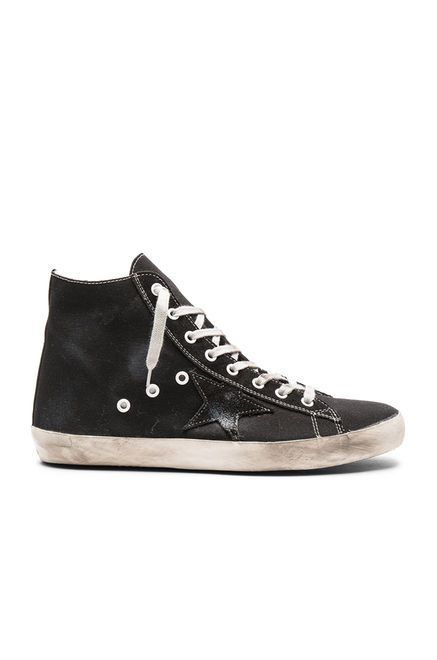 Golden Goose Francy Sneakers em Tela Preta | REVOLVE