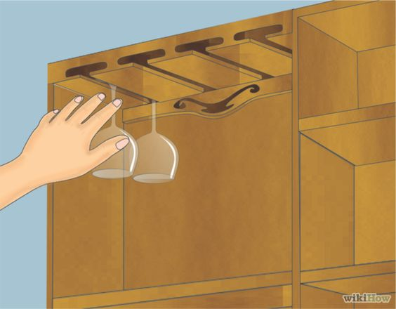 Hacer un estante colgante para copas de vino - Estantes para vinos ...