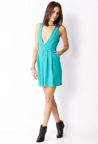 Plunging V-Neckline Dress | FOREVER 21 - 2000063756