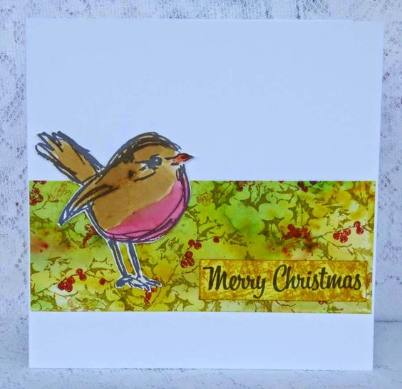 Scribbly Red Robin by Fliss Goodwin | That's Blogging Crafty!