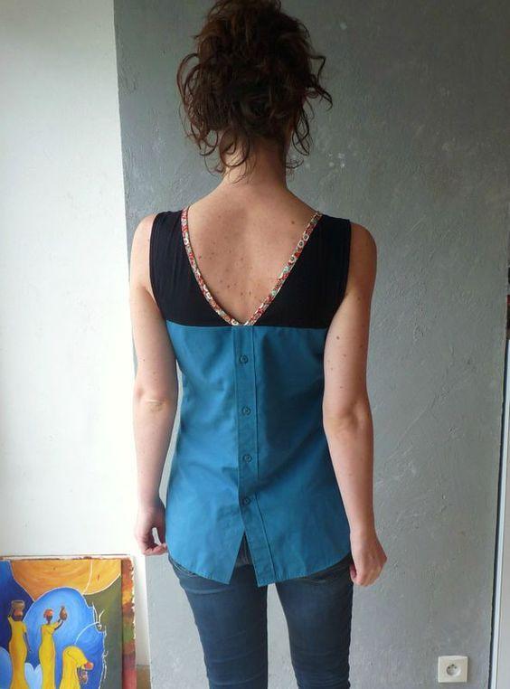 tunique A du dressing chic faite avec une vieille chemise