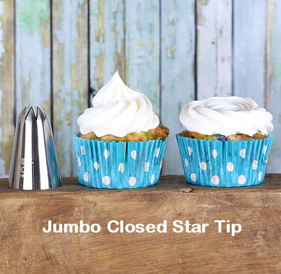 Jumbo Closed Star Frosting Tip - This frosting tip makes the perfect traditional swirl and the rose swirl. | Bakers Party Shop