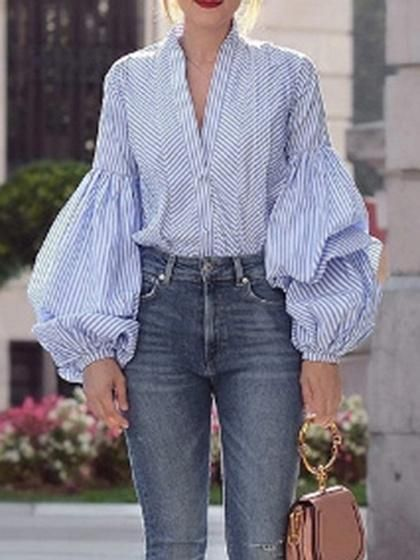 46 Wide Sleeve Blouses To Rock Your Spring Style outfit fashion casualoutfit fashiontrends