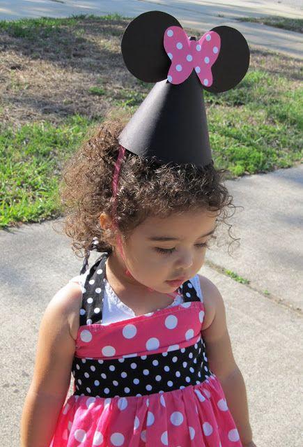 E hoje vai ser uma festa!: Chapéus de aniversário da Minnie - Passo a passo