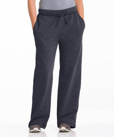 Take a look at this Charcoal Three-Pocket Fleece Lounge Pants by Repair the World® on #zulily today!