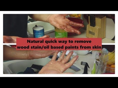 How To Remove Oil Based Paint From Your Hands Brushes Naturally Youtube Staining Wood Diy Wood Stain Removing Stain From Wood