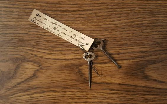 Old Vintage East India Ear Spoon and Pick Collectible or Steampunk Project Key