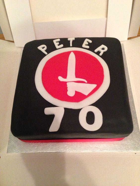 70th charlton athletic birthday cake