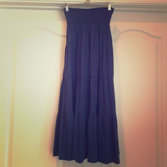 Dark blue maxi skirt Great condition, dark blue maxi skirt from old navy. Size small. I'm 5'2 and it was the perfect length for me. Old Navy Skirts Maxi