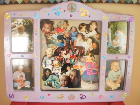The finished memory frame for my granddaughter!