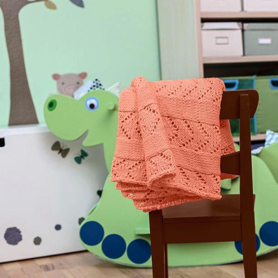 Modell 459/4, 2-fädig gestrickte Babydecke aus Cotonia von Junghans-Wolle « Schönes für Zuhause « Strickmodelle Junghans-Wolle « Stricken & Häkeln im Junghans-Wolle Creativ-Shop kaufen