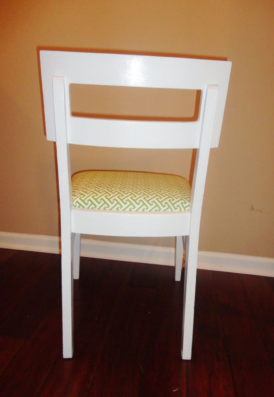 Retro Refinished Chair  Modern Vintage by SimplySalvage on Etsy, $100.00