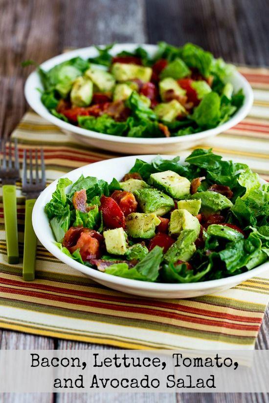 Bacon, Avocado salads and Salads on Pinterest