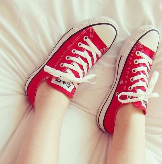 I have finally bought myself a pair of red Converse. Love them!